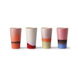 HK Living 70's Latte mugs - set v 4