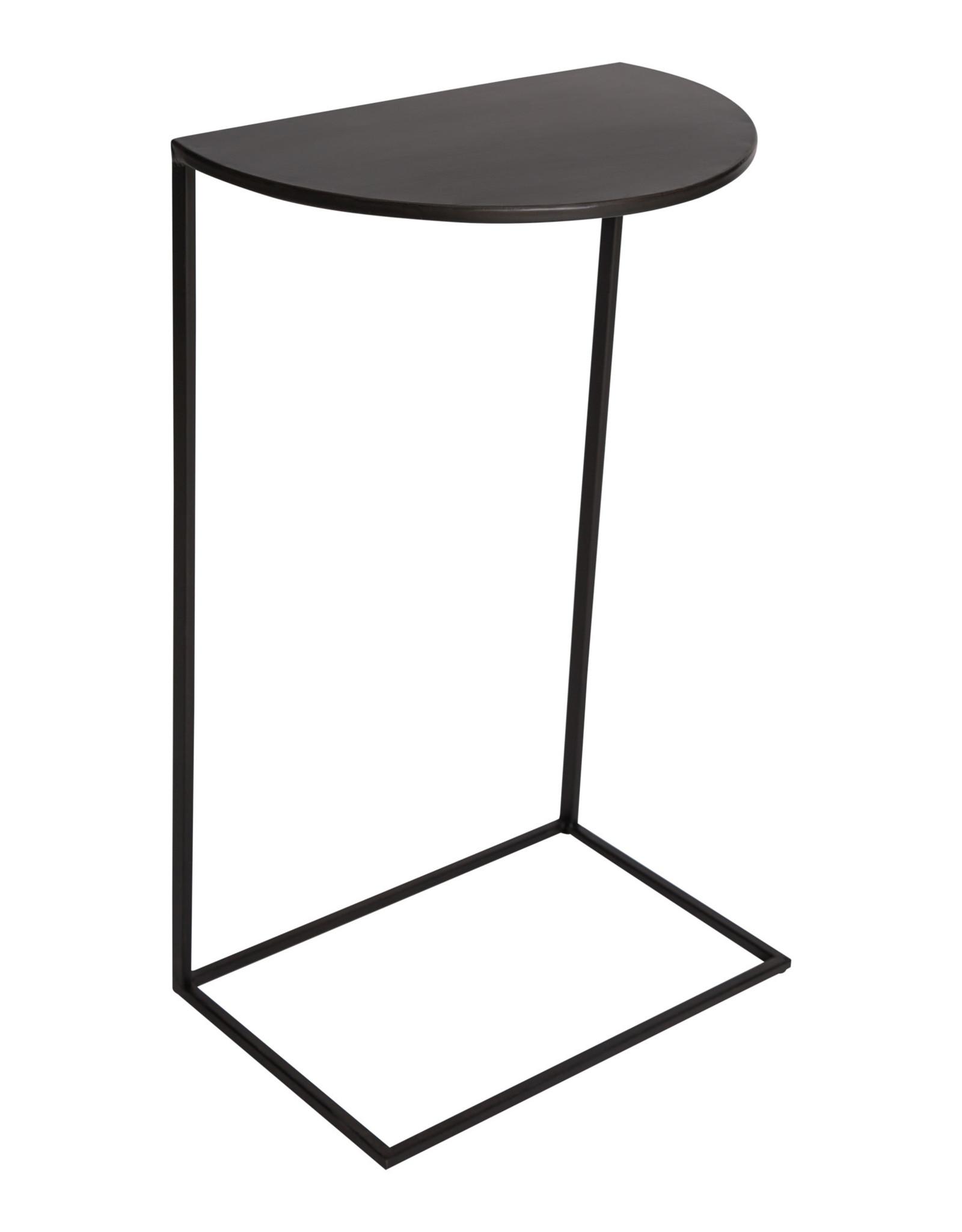 Bijzettafel Sofa - zwart metaal