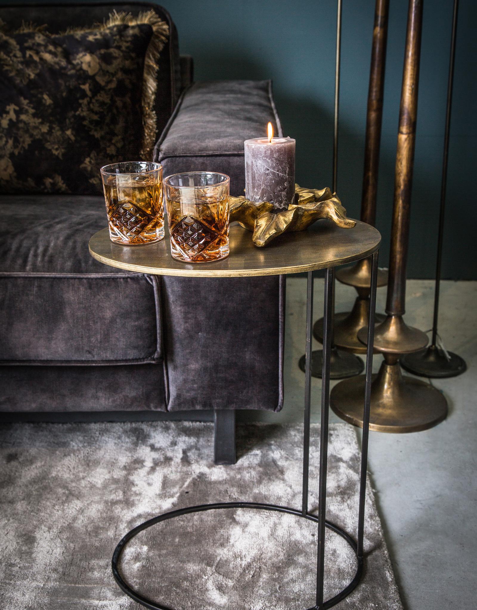 Bijzettafel sofa Gold rond
