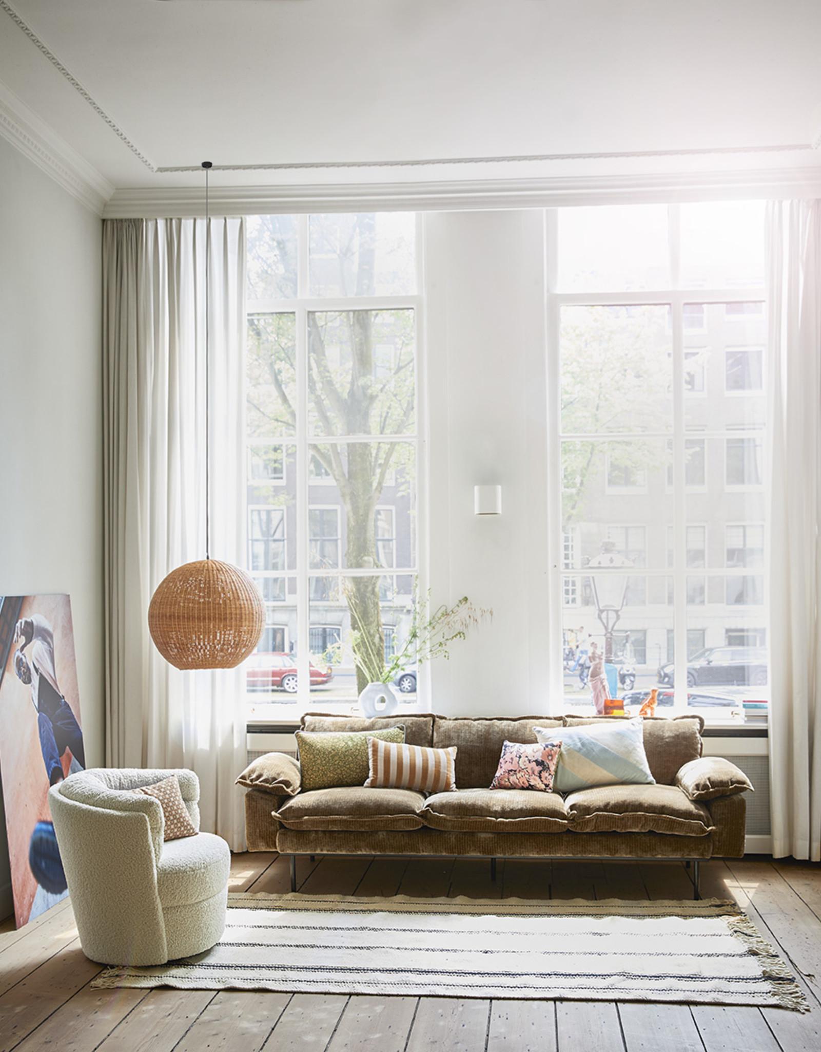 HK Living Retro Sofa 4-zitsbank (9 kleuren/stoffen)