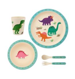 Serviesset Bamboo - Dinosaurs