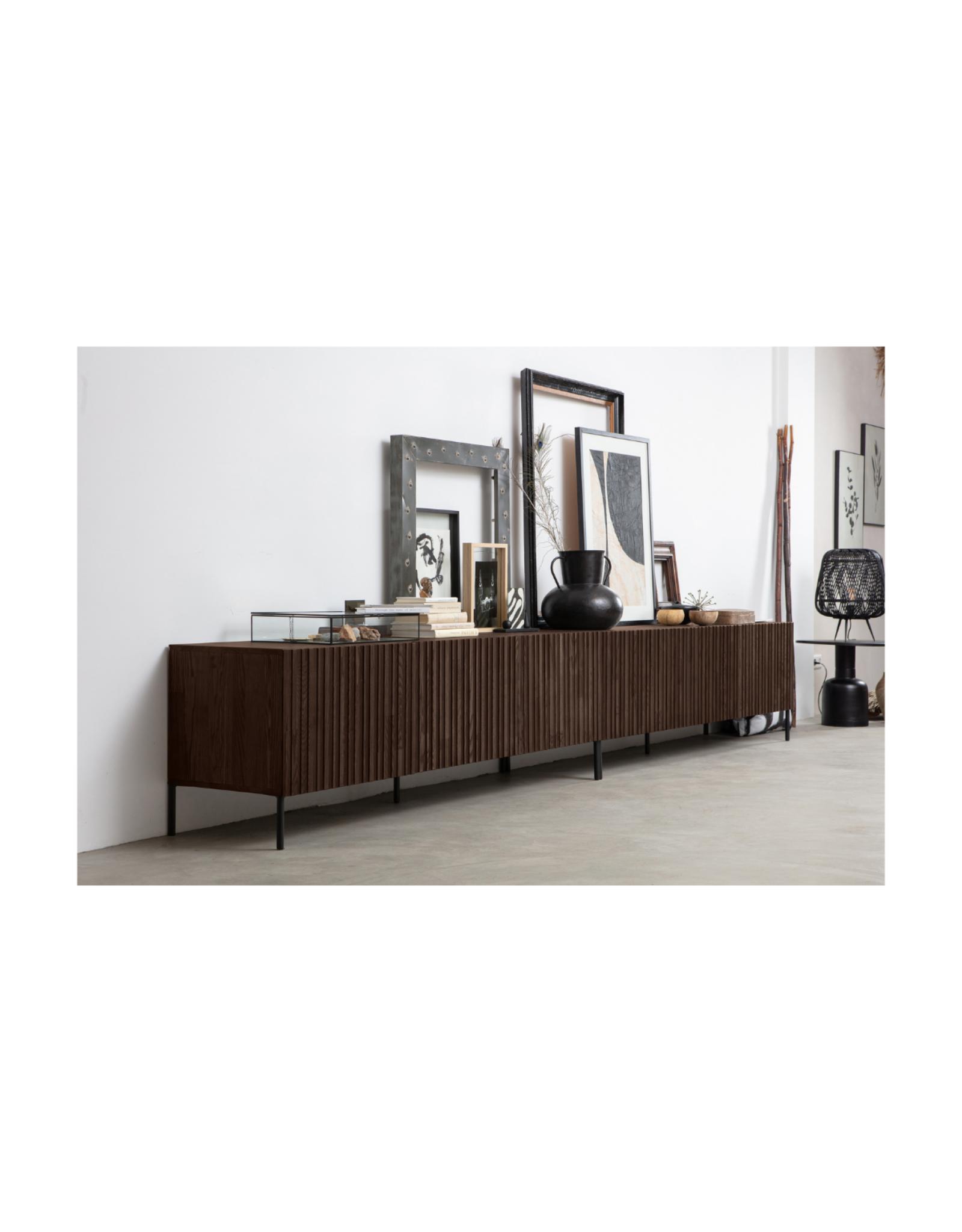 TV-meubel in bruin essenhout