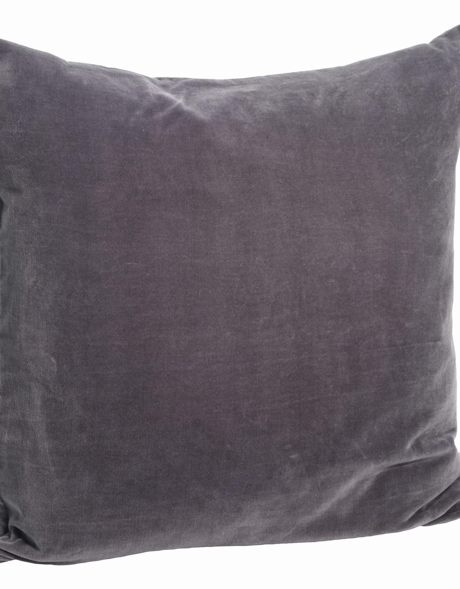 Madam Stoltz Kussensloop Dark Purple Washed Velvet 50 x 50 cm