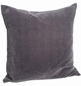 Madam Stoltz Kussensloop Dark Purple Washed Velvet 50 x 50 cm