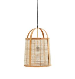 Madam Stoltz Hanglamp Lantern bamboo / linen