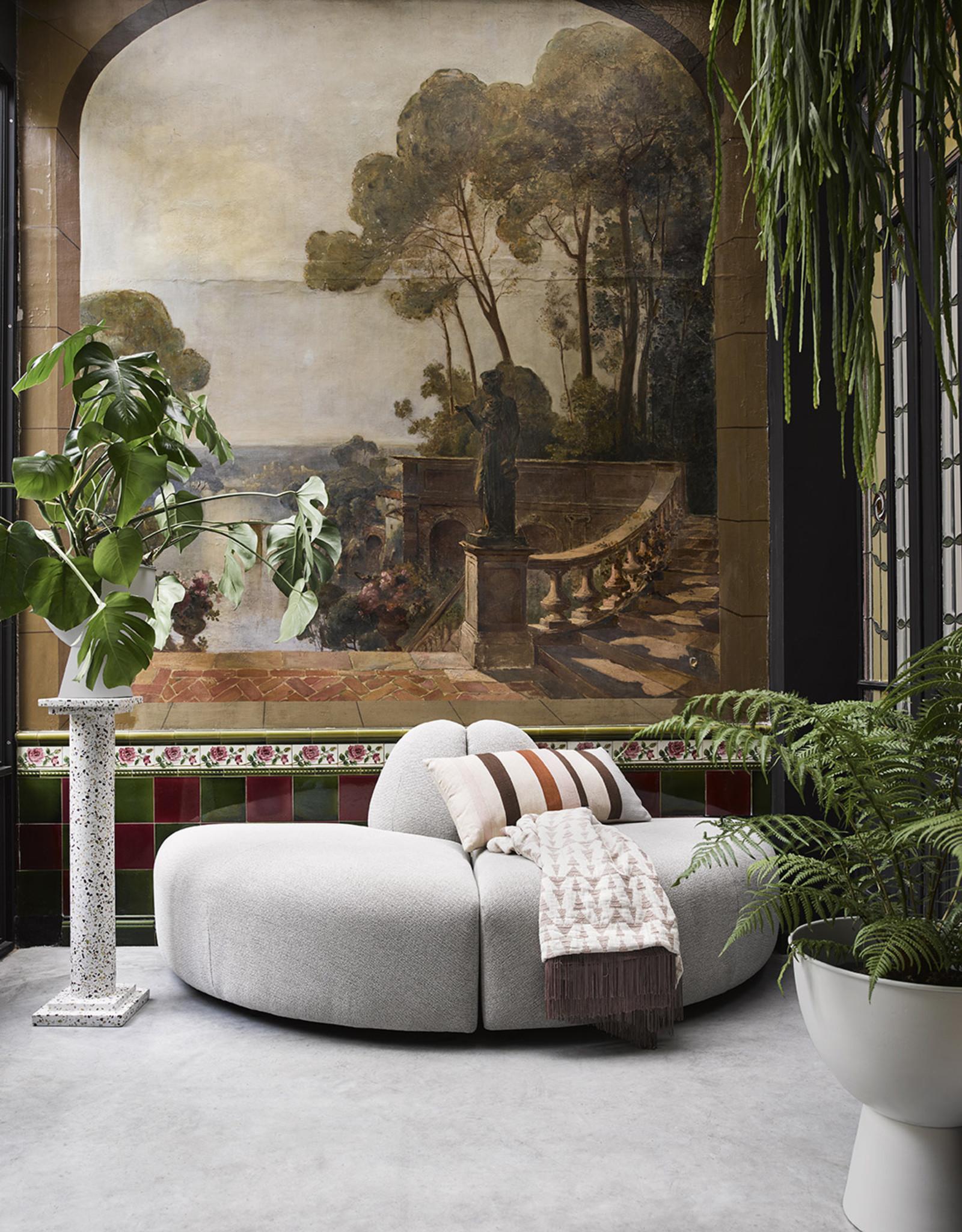 HK Living XL Bloempot op voet - Rustic white 45 cm