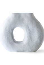 HK Living Organic Circle Vase - matt ice blue