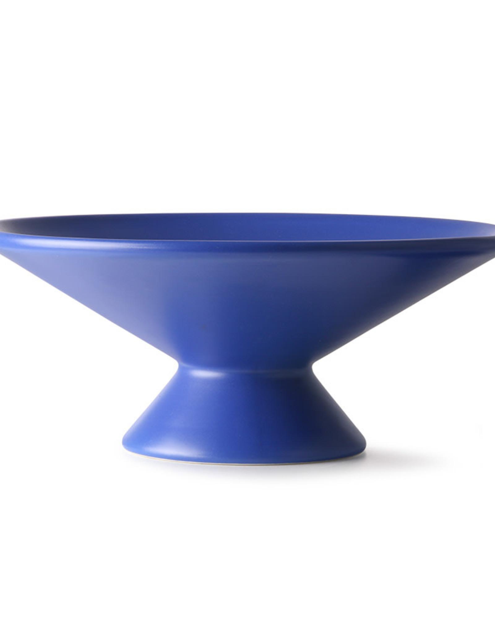HK Living Fruitschaal op voet - Cobalt blue