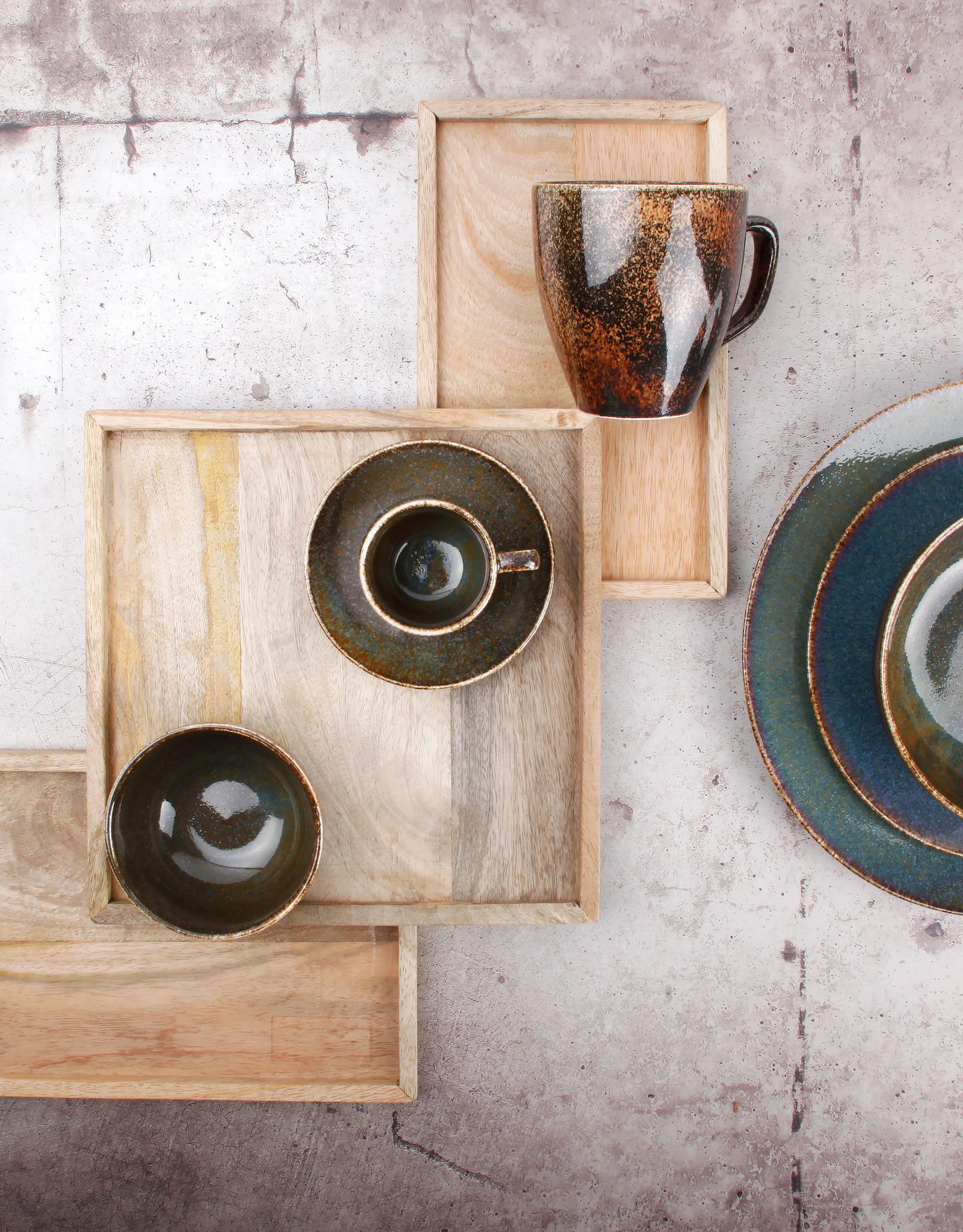 Ontbijtbord Ø21 cm Green Ombre Glaze