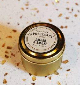 Paddywax Geurkaars sojawas travel tin - Amber & Smoke 56g