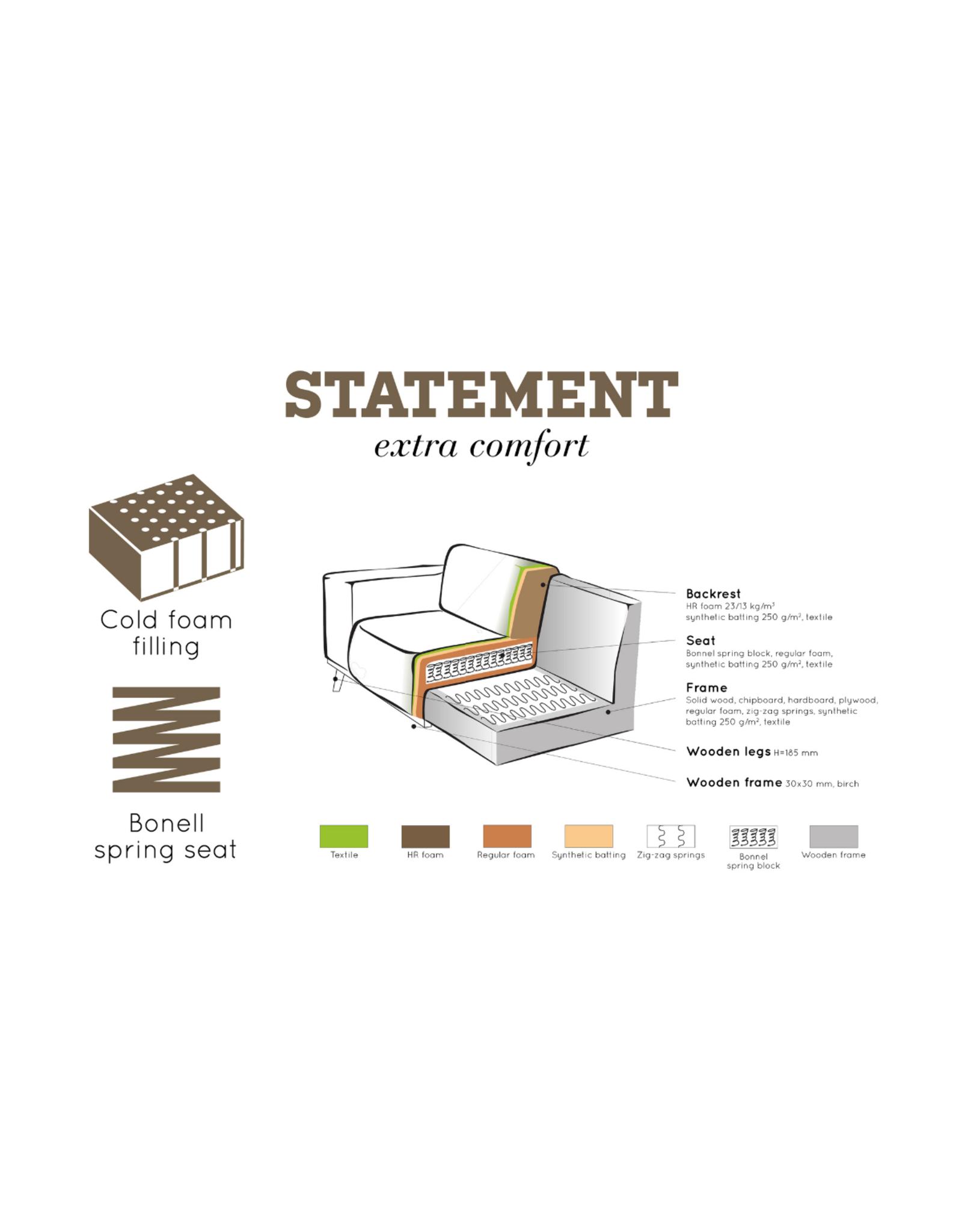 Zetel 3-zit Statement bouclé (5 kleuren)