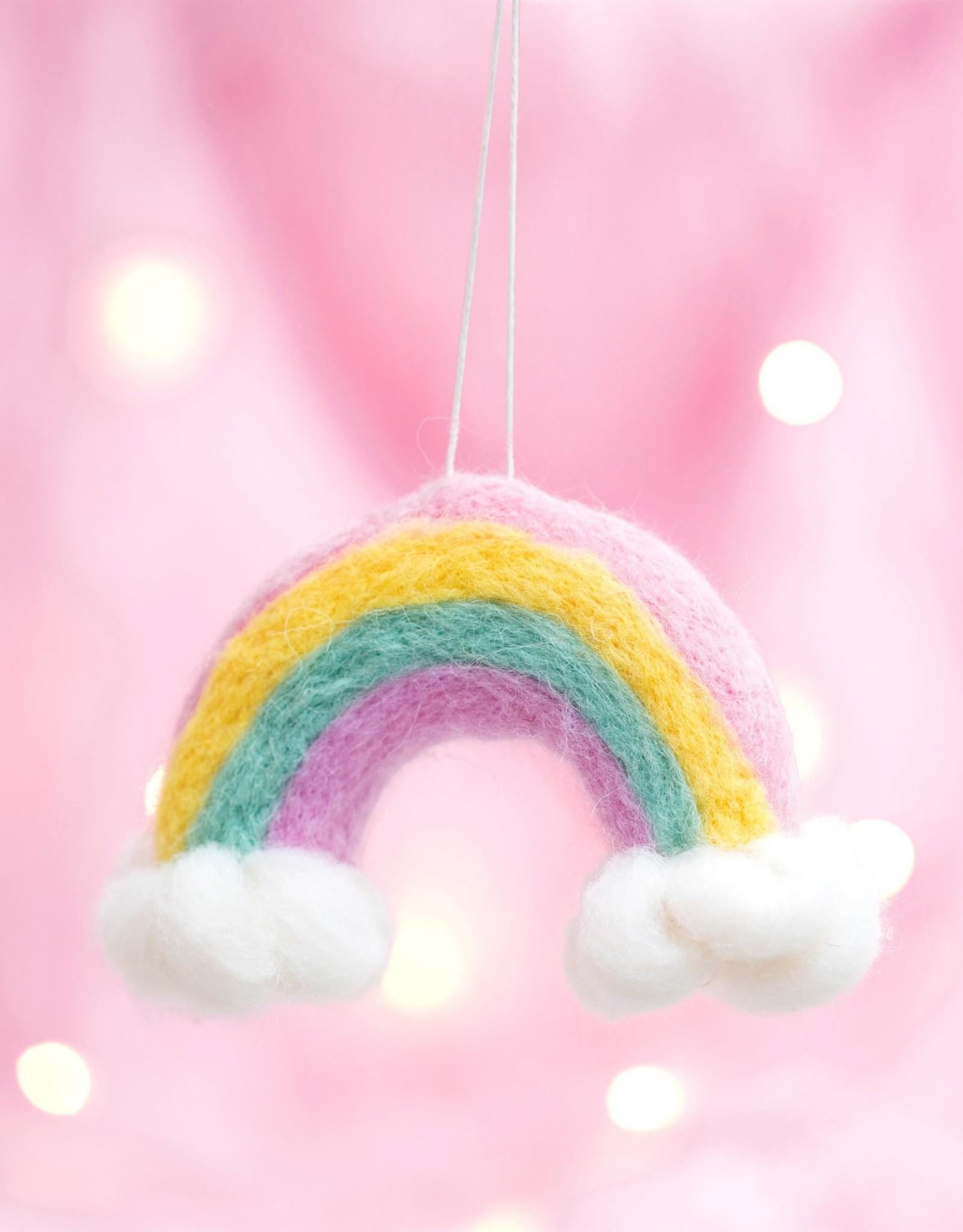 Kersthanger Vilt - Pastel Rainbow