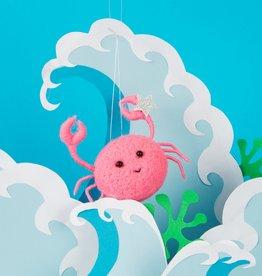 Kersthanger Vilt - Pink Crab