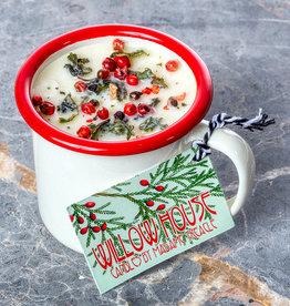 Madame Treacle Geurkaars sojawas 'Winter Spice' in enamel espressobeker