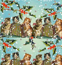 Madame Treacle Kaart met glitter 'Singing Cats'
