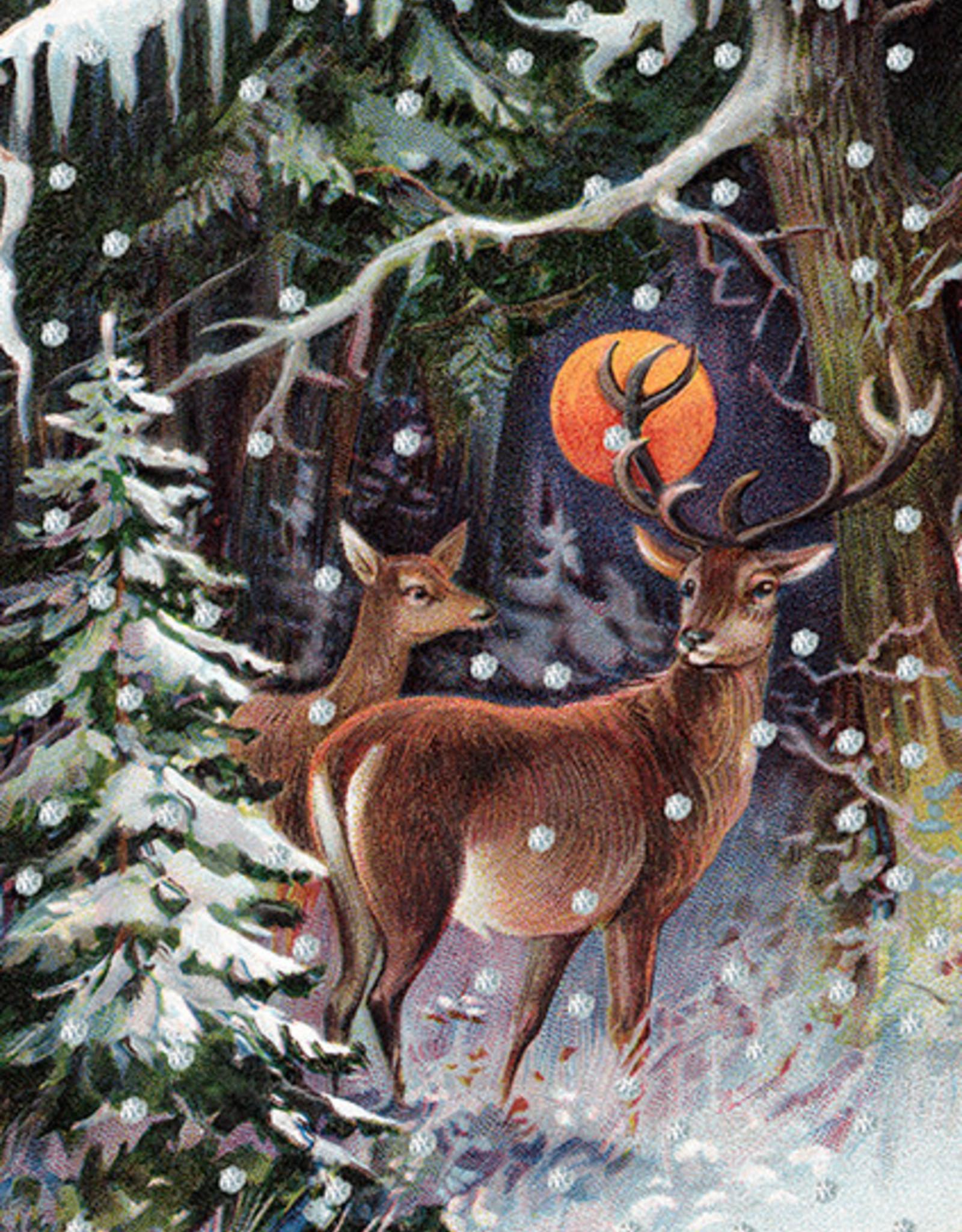 Madame Treacle Kaart met glitter 'Winter night'