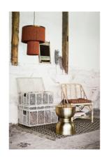 Hanglamp met franjes - roest