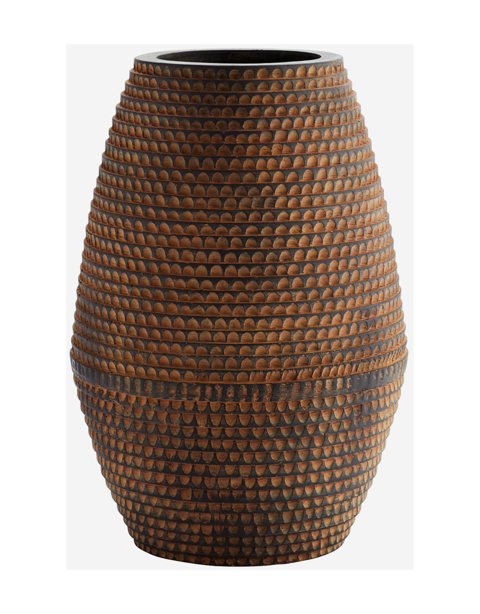 Vaas Striped Fibre Klei