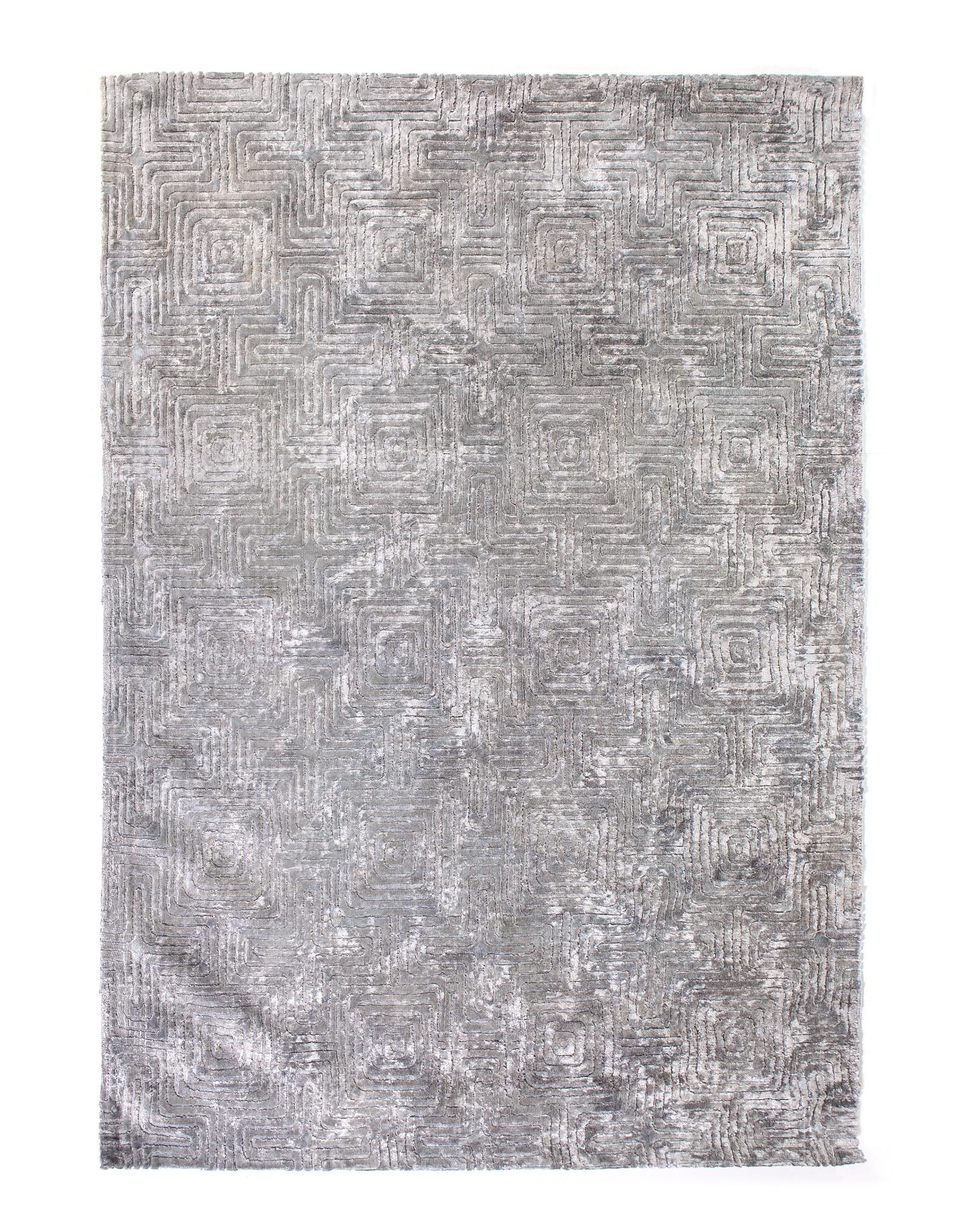 Vloerkleed Viscose 160 x 230 cm - Grijs