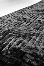 Vloerkleed Viscose 160 x 230 cm - Zwart