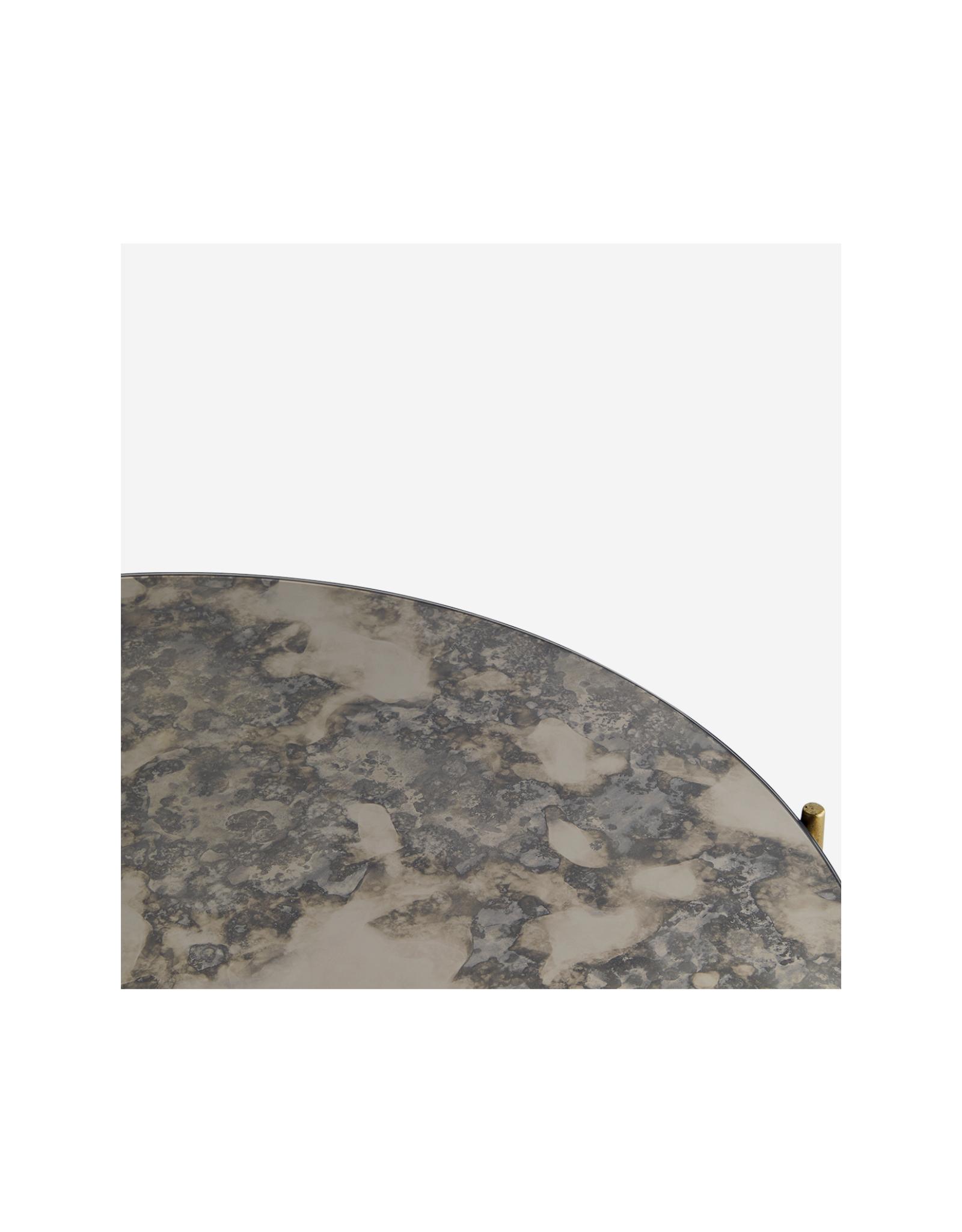 Salontafel Ø80 cm - Oxidised mirror