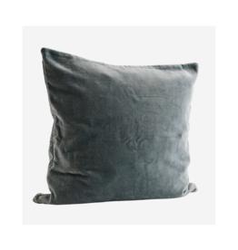 Kussensloop Teal Washed Velvet 50 x 50