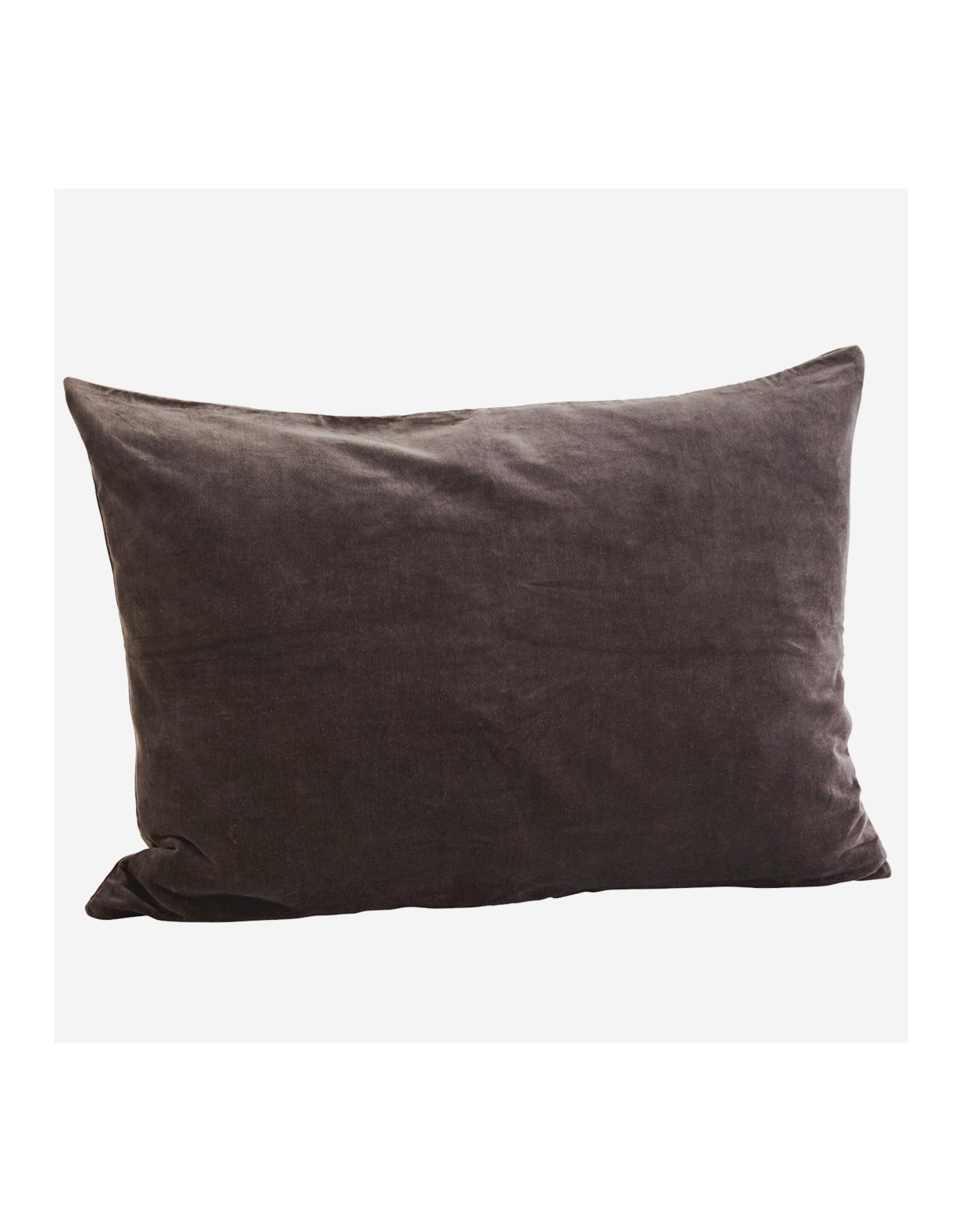 Kussensloop Charcoal Washed Velvet 50 x 70