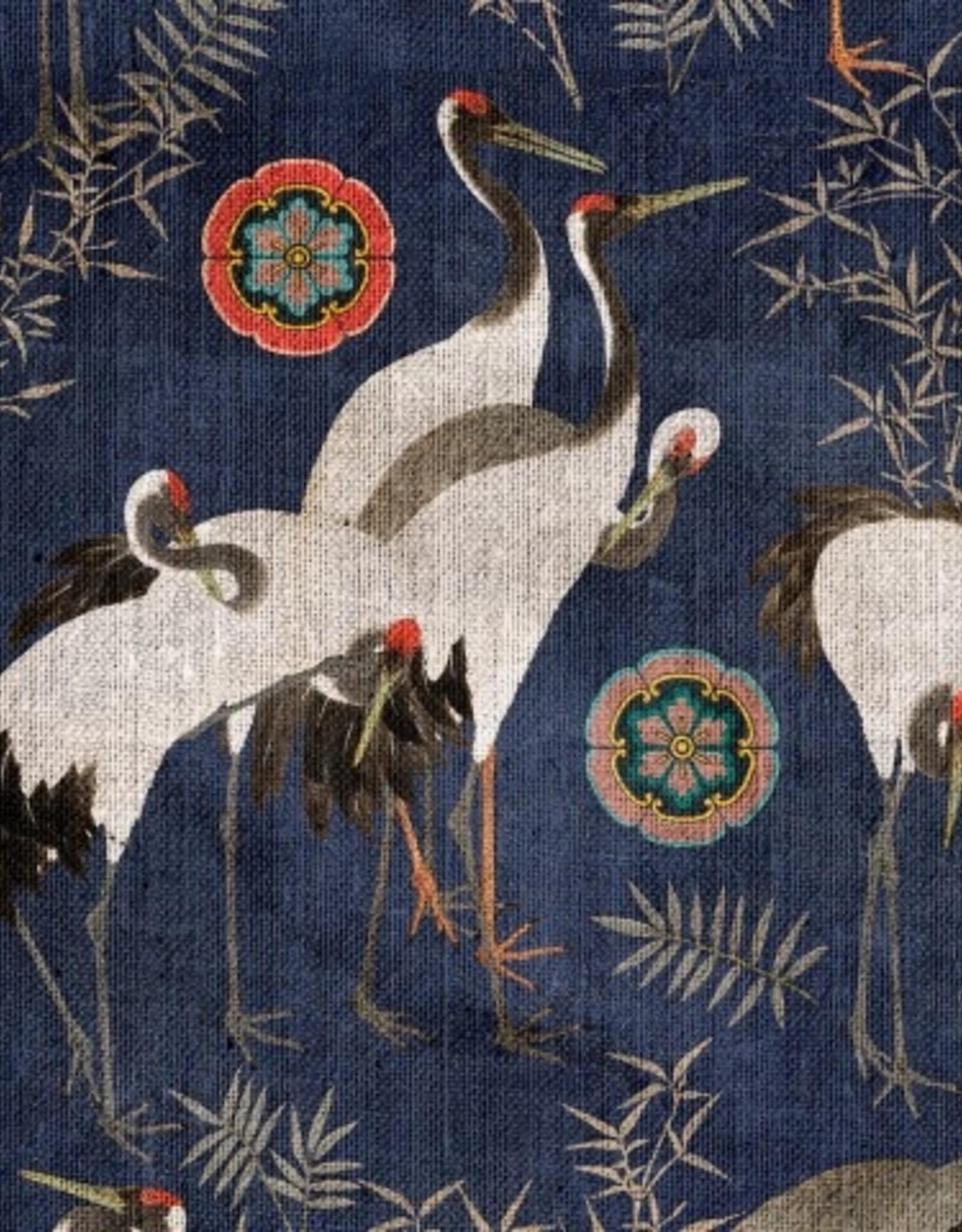 Behang Tsuru Indigo - 156 x 300 cm