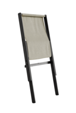 Karup Design Fauteuil Boogie - zwart frame met linnen kussen