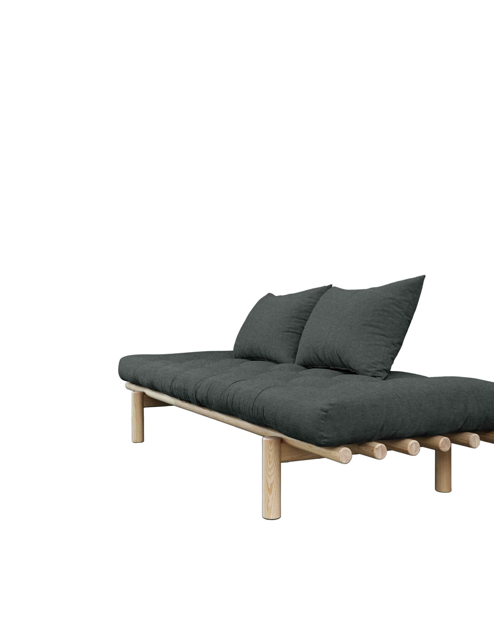 Daybed Pace - Transparant Donkergrijs - Direct Leverbaar