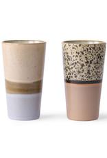 70s Latte bekers - set v 2
