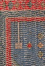 HK Living Badmat 60 x 90 cm rood/blauw getuft met antislip