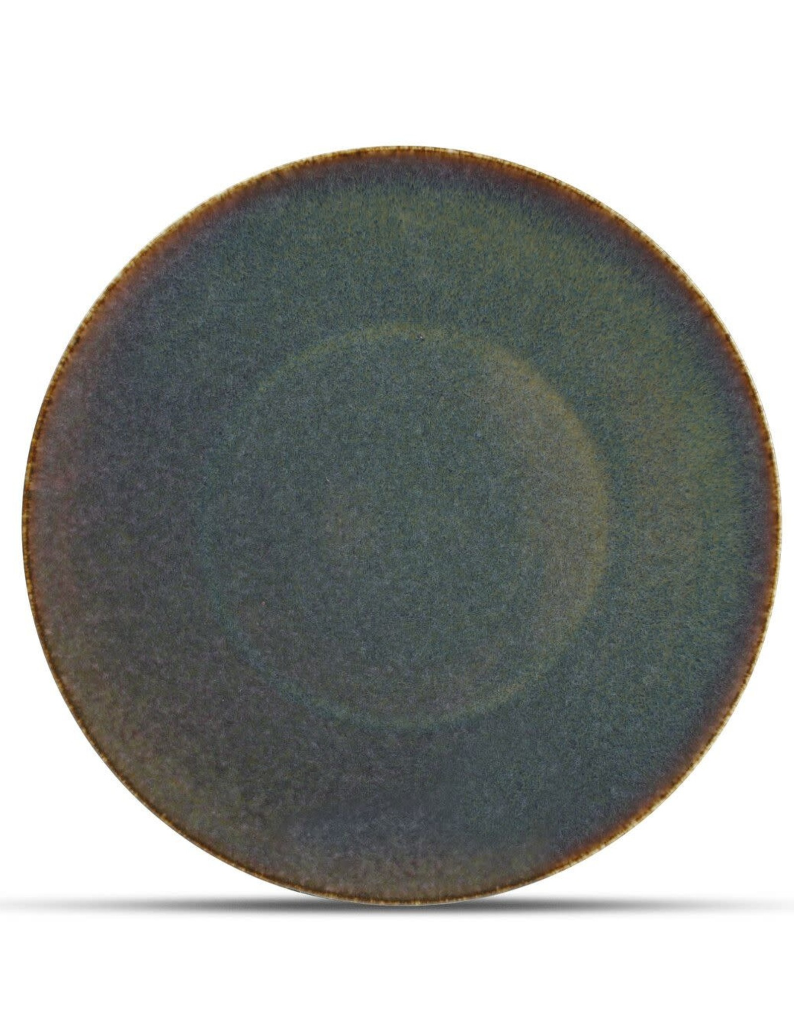 Bord Green Ombre Glaze Ø27 cm