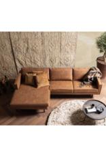 4-zit Recycle-leder met chaise longue links (4 kleuren)