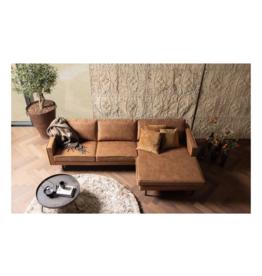 4-zit Eco-Leder met chaise longue rechts (4 kleuren)