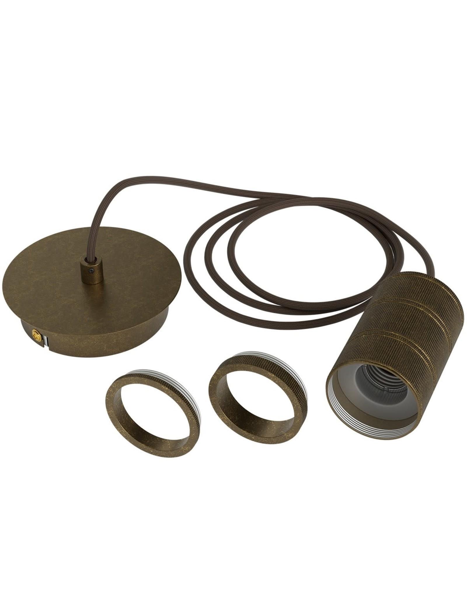 Hanglamp Retro Pendule - Brons E27