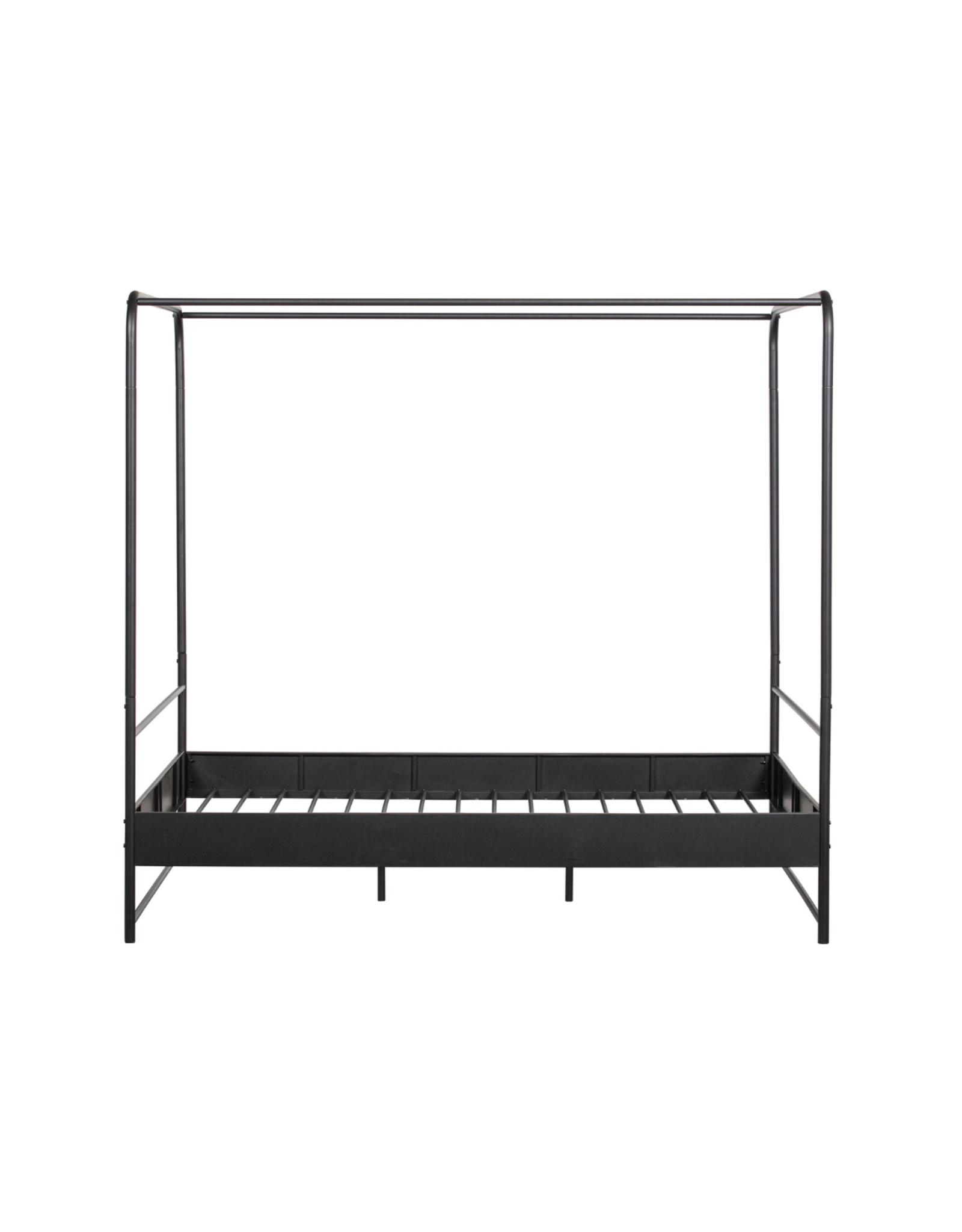 Hemelbed 160 x 200 cm - zwart metaal