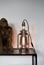 LED Lamp Lantern Titanium dimbaar