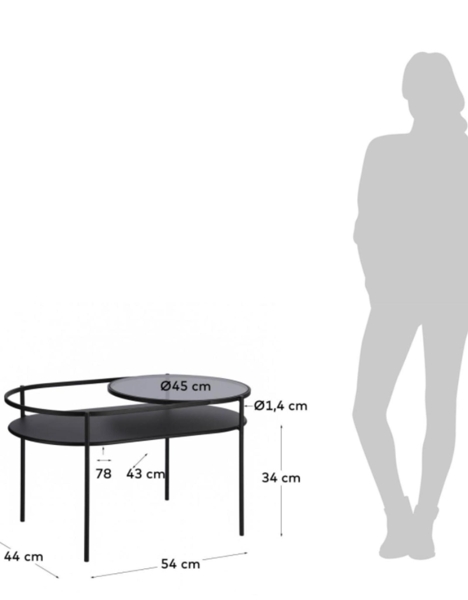 Salontafel Levels - zwart metaal