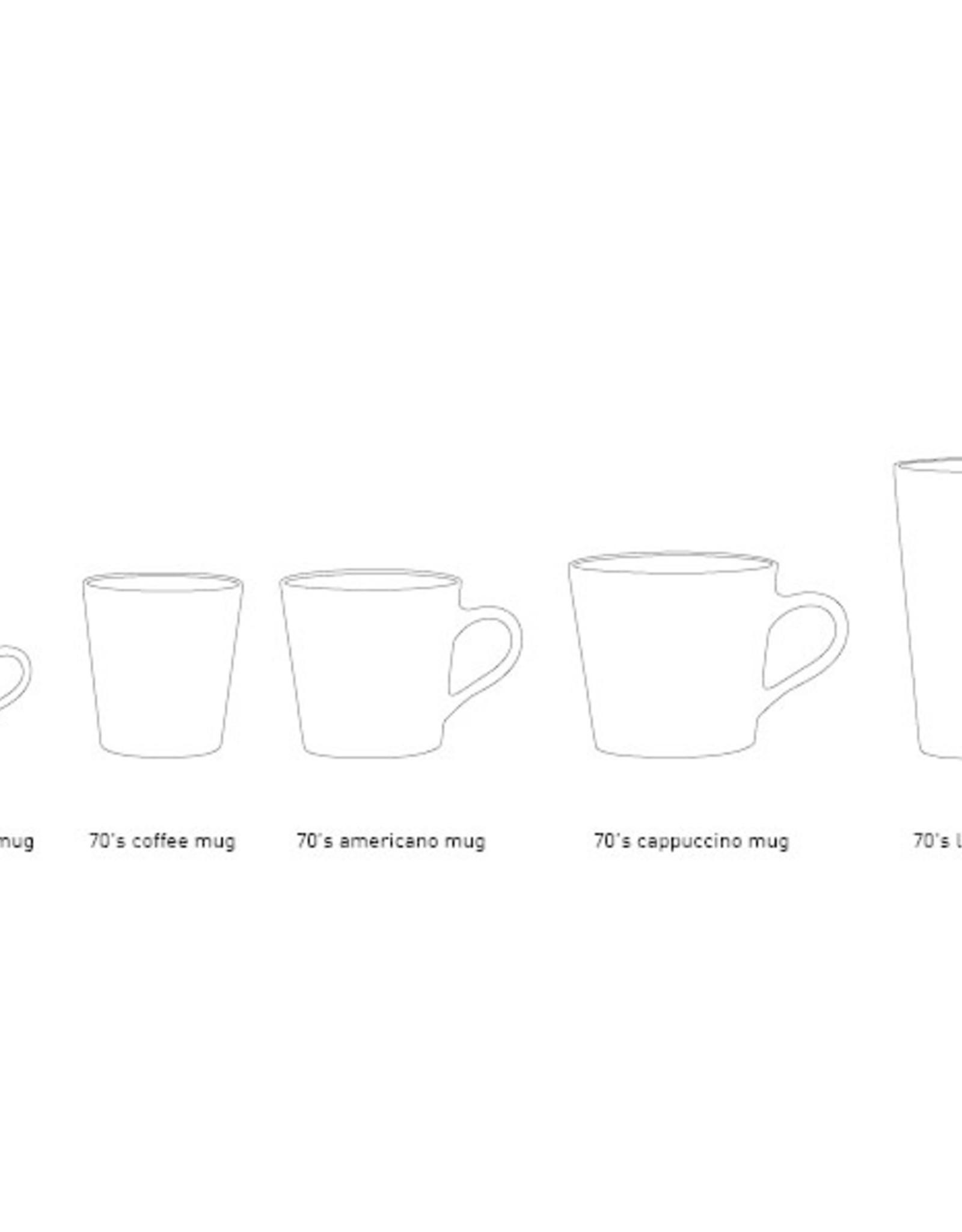 HK Living Set v 4 Cappuccino mugs 70s