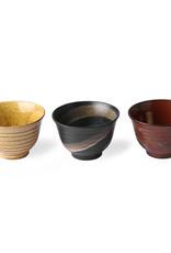 HK Living Set van 3 Japanese Matcha bowls