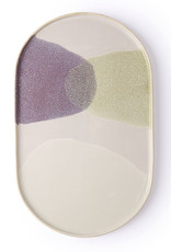 HK Living Ovaal bord Gallery ceramics green/lilac
