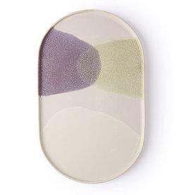HK Living Ovaal bord Gallery ceramics green/lilac