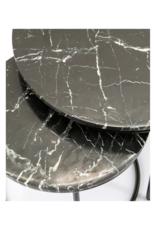 Bijzettafel Twin Black Marble