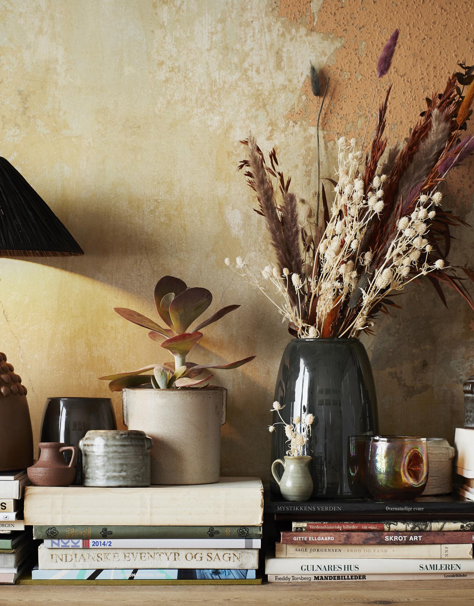 Madam Stoltz Set van 2 bloempotten Ivoor
