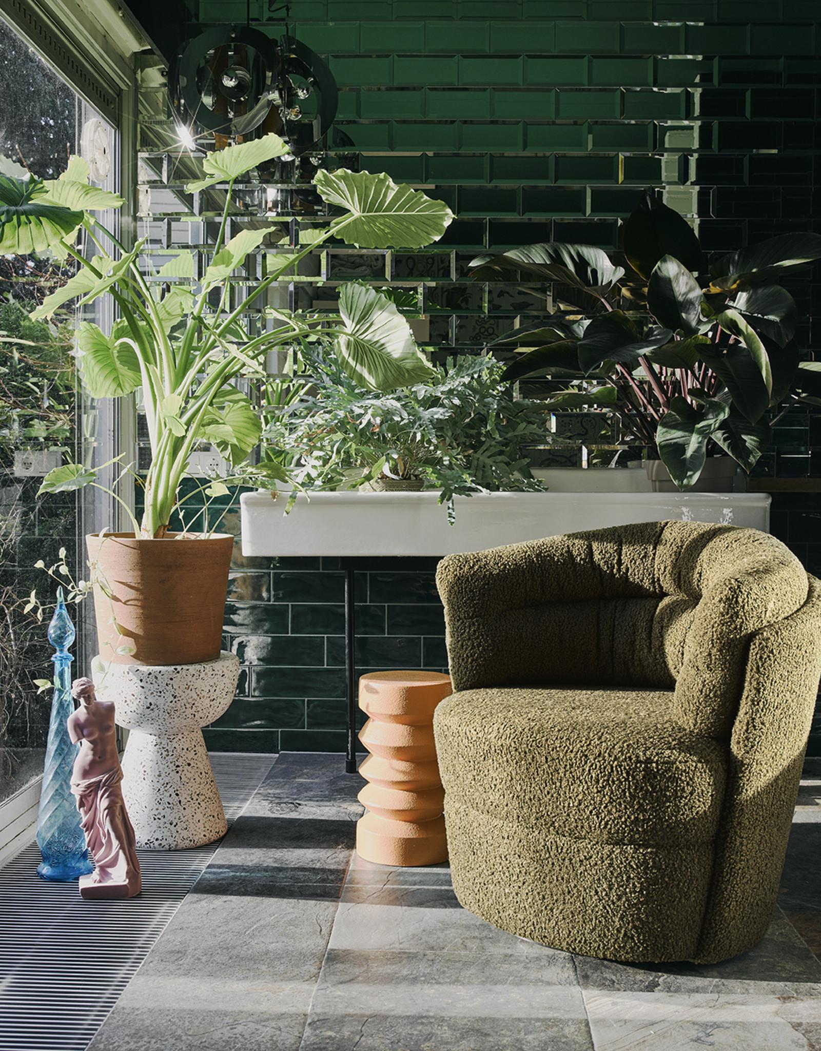HK Living Fauteuil Twister - groen