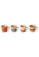 HK Living Set van 4 Americano Mugs 70s