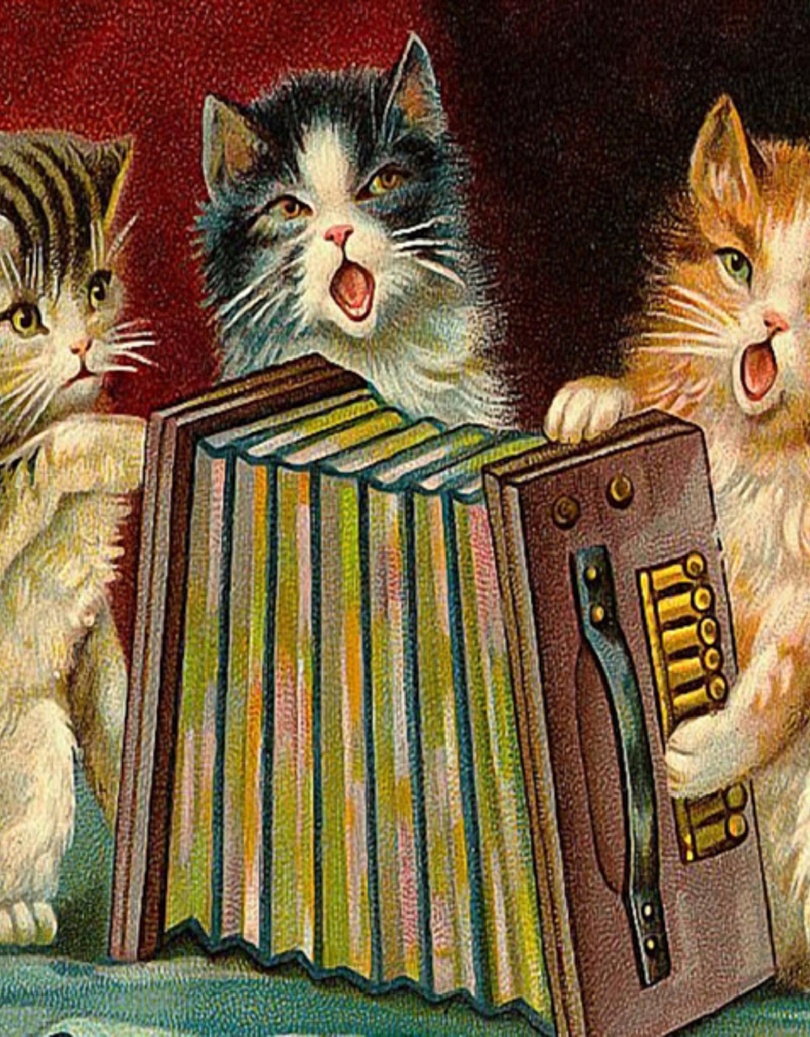 Madame Treacle Kaart vintage petite 'Singing Kittens'