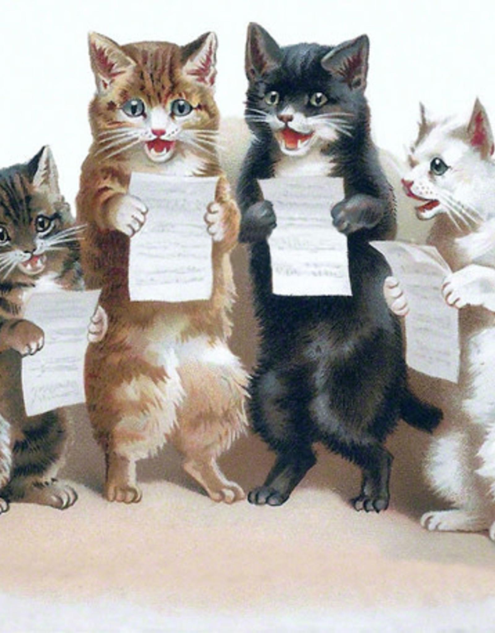Madame Treacle Kaart vintage petite 'Singing Cats'