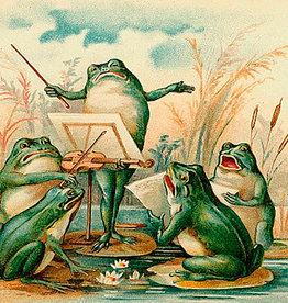Madame Treacle Kaart vintage petite 'The frog chorus'